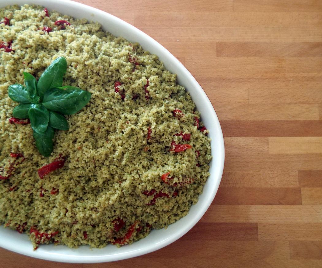 cous cous pesto e pomodorini