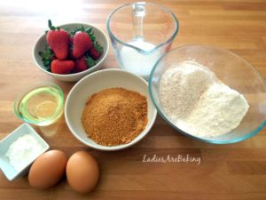 ingredienti plumcake alle fragole