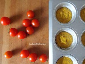 muffin zafferano composizione