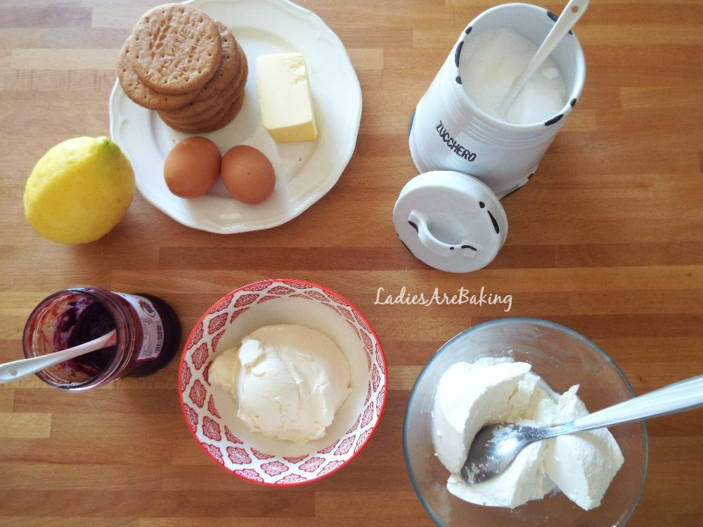 cheesecake frutti di bosco ingredienti
