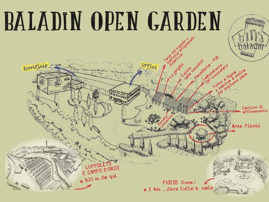 mappa baladin open garden