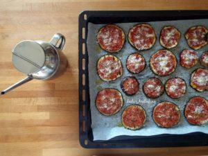pizzette di melanzane condimento