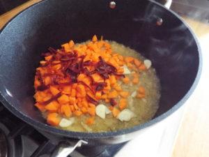 salsa piccante con peperoni cottura